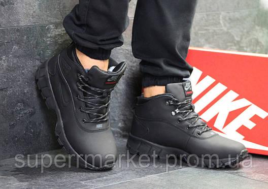 Кроссовки Nike Lunarridge черные  зима , код6529, фото 2