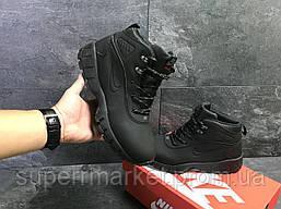 Кроссовки Nike Lunarridge черные  зима , код6529, фото 3