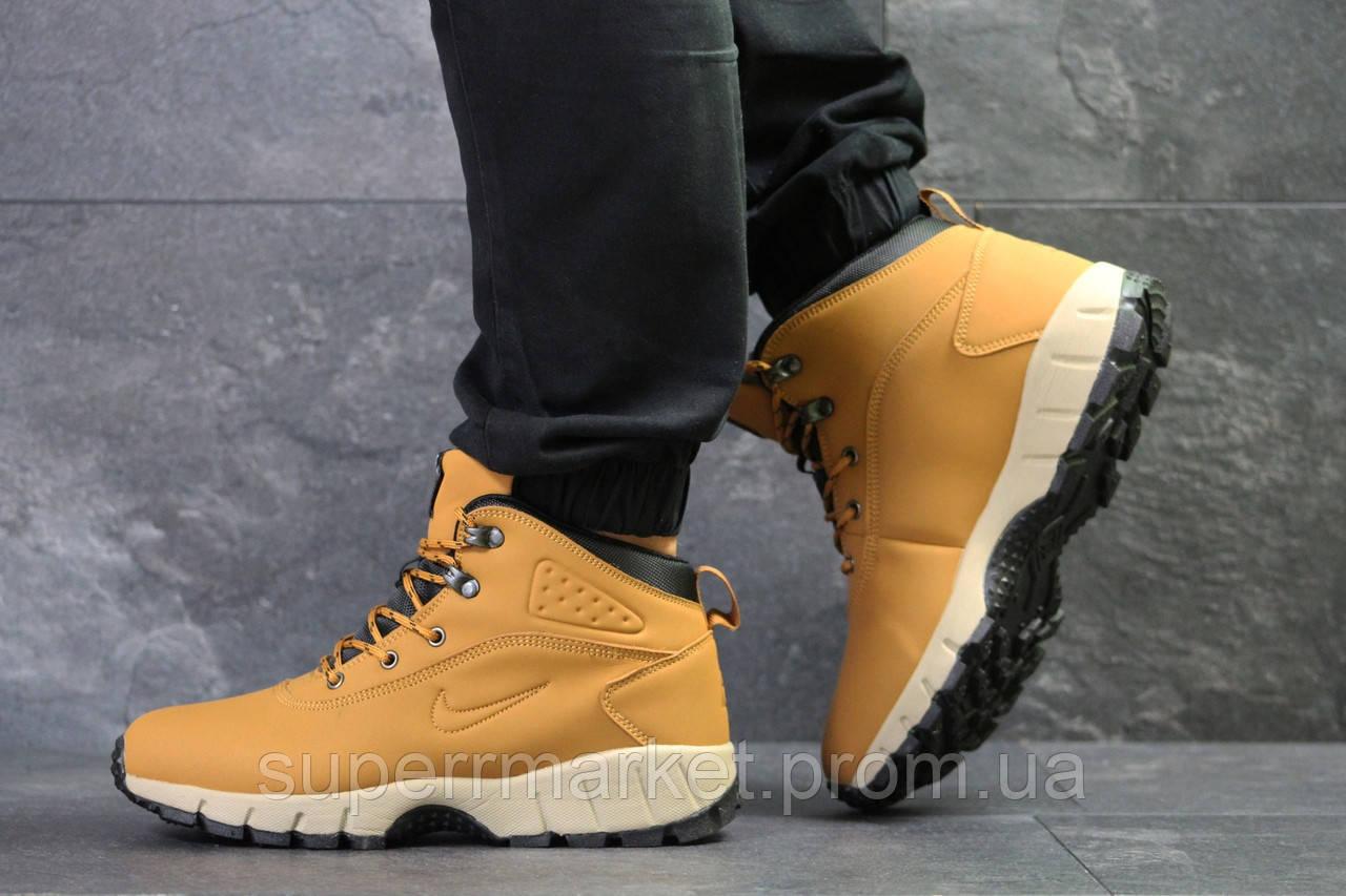 Кроссовки Nike Lunarridge коричневые  зима , код6531