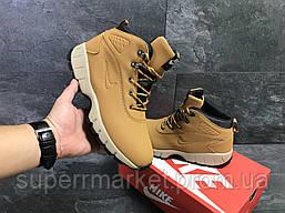 Кроссовки Nike Lunarridge коричневые  зима , код6531, фото 3
