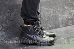Кроссовки Nike Lunarridge черные  зима , код6532, фото 3