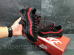 Кроссовки Nike 95 черные с красным, код6547, фото 3