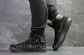 Кроссовки Nike Jordan черные  зима , код6571, фото 3