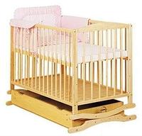 Кроватка-колыбель Twins с ящиком бук натуральный