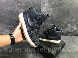 Кроссовки Nike Lunar Force 1 Duckboot темно-синие (зима). Код 6593, фото 3
