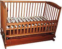 Кроватка-колыбель Twins с ящиком тик, откидной бортик