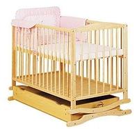 Кроватка-колыбель Twins с ящиком бук, откидной бортик