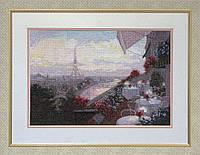 Набор для вышивки нитками на канве Париж КИТ 10409