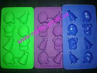 Форма силиконовая Лед -конфеты Новый год 8шт., фото 1