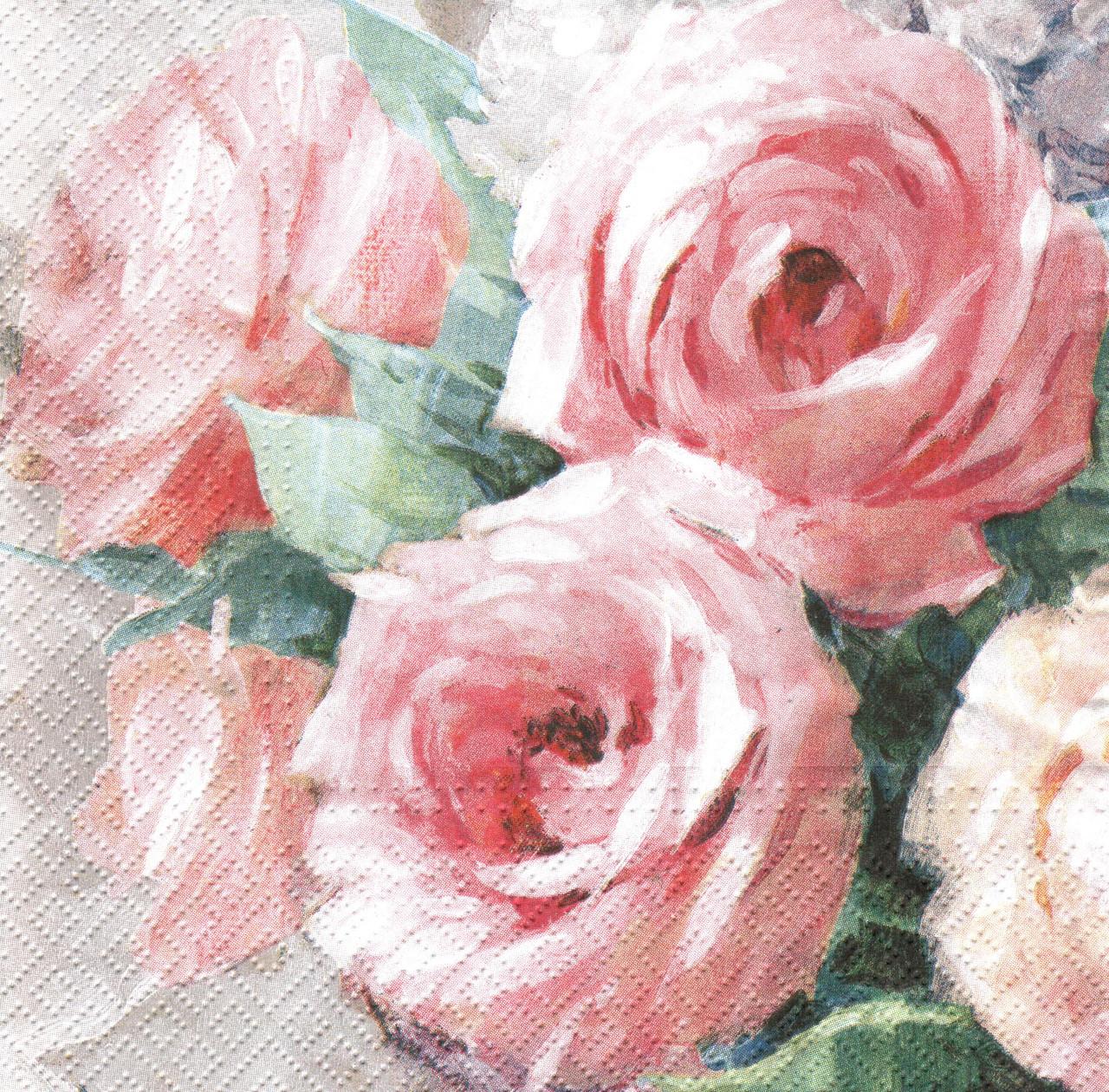 Декупажная салфетка Винтажные розы 4304