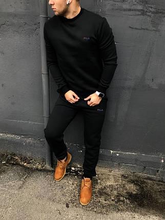 Спортивный костюм Fila без капюшона черный, фото 2