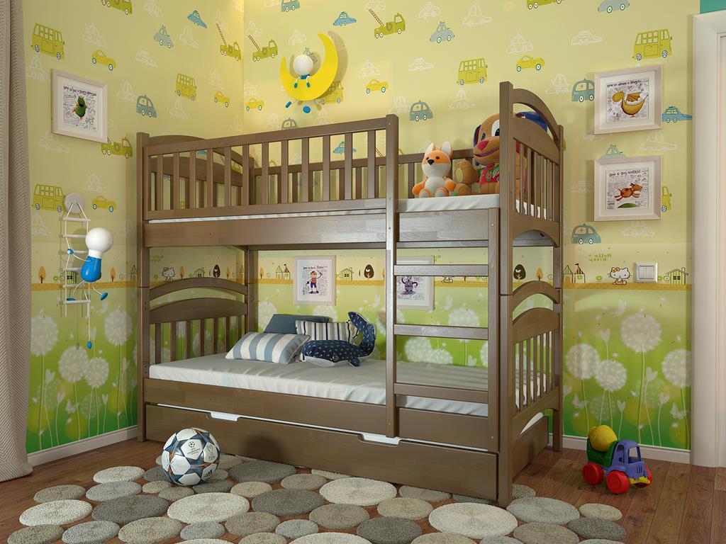Двухъярусная кровать детская Смайл
