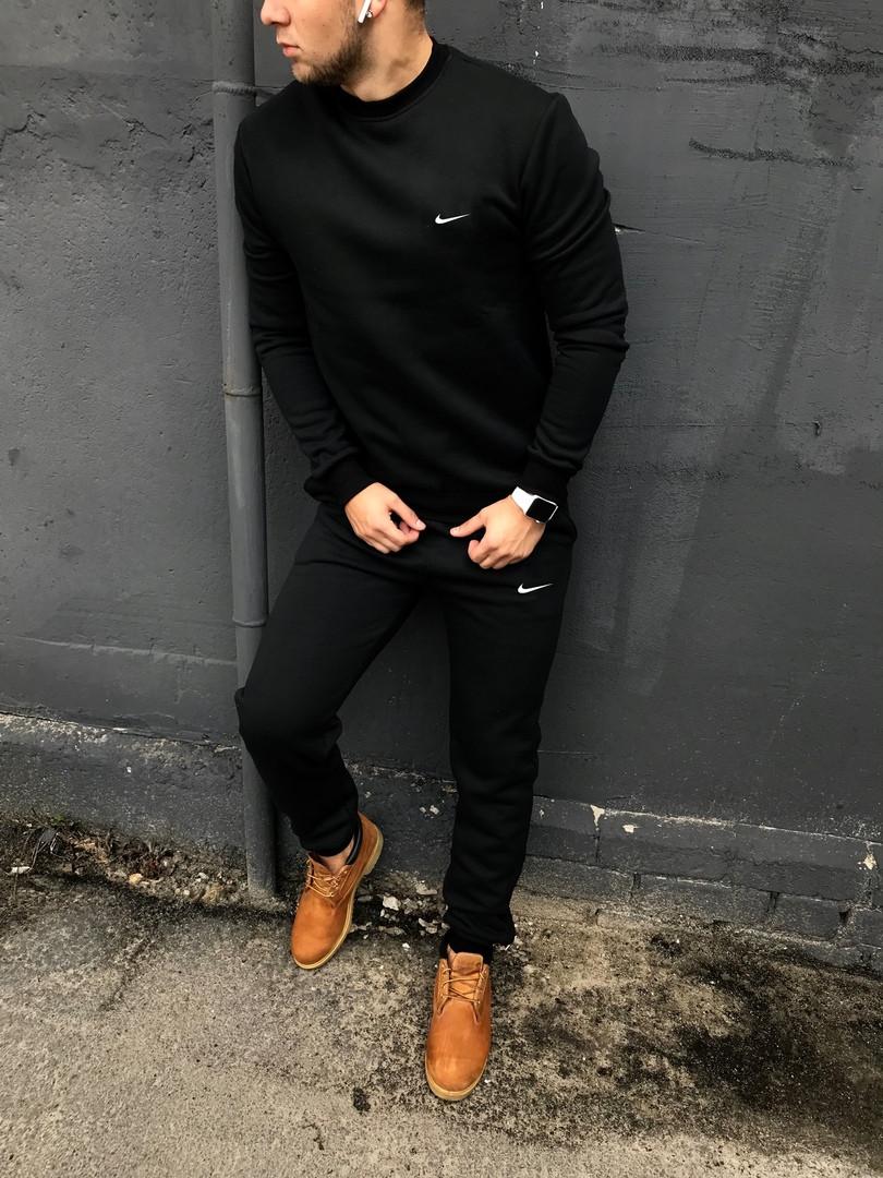 Спортивный костюм Nike без капюшона черный