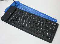 Проводная гибкая пыле/влего-защитная клавиатура Maxxtro KBF-520-BK