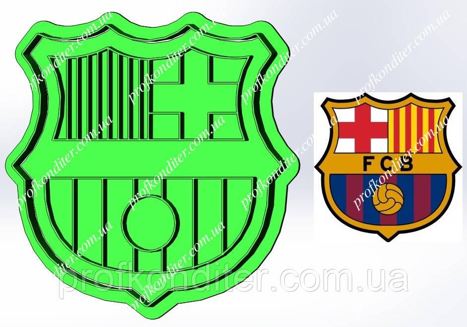 Пластикова вирубка з відбитком Футбольний клуб Барселона, висота 11см