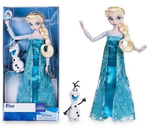 Кукла принцесса Эльза с снеговиком Олафом Elsa Classic Doll with Olaf