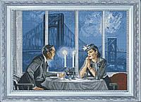 Набор для вышивки нитками на канве Хрустальный вечер КИТ 10611