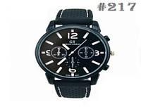 Мужские кварцевые наручные часы / годинник GT Grand Touring White  (217)