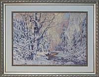 Набор для вышивки нитками на канве Зимняя сказка КИТ 11008