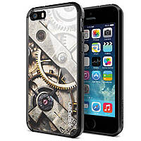 Чехол-накладка SGP Ultra Hybrid для Apple iPhone 5S/5 серый, прозрачный (SGP10518)