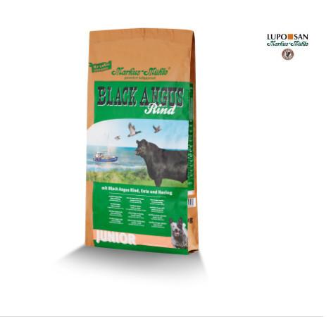 Для щенков и молодых собак Markus-Muhle Black Angus Junior с говядиной