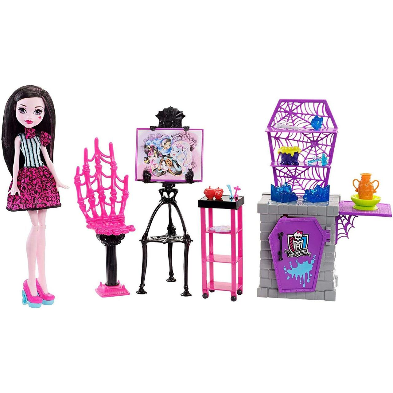 Игровой набор Monster High с куклой Дракулаурой Арт Класс Skulltimate Art Class Draculaura Doll & Playset