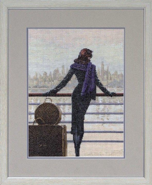 Набор для вышивки нитками на канве Грация КИТ 11108