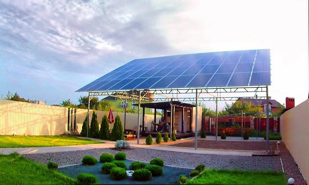 """Молодежное солнечная электростанция под """"зеленый"""" тариф мощностью 15,8 кВт Amerisolar + Altek Одесская область"""