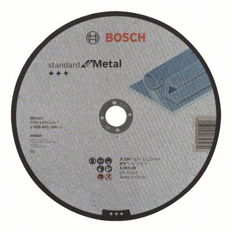 Відрізний диск прямий 230 мм Standard for Metal BOSCH