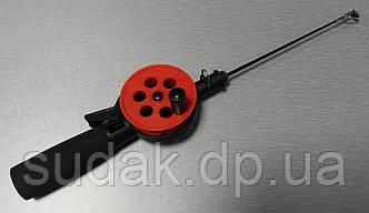 Зимняя удочка красная Flagman d = 55мм Ручка EVA Pole 15см