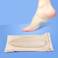 Мягкий стягивающий бандаж для стопы с силиконовой подушкой
