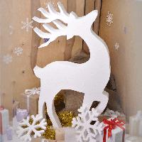"""Новогодний декор, объемная фигура """"Олень"""" для дома, фотозон, офисных помещений, витрин"""