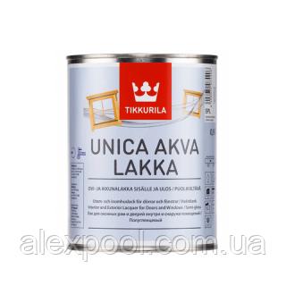 TIKKURILA UNICA AKVA LAKKA лак для дерева ЕР 0,9 л