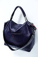 Женская сумка из натуральной матовой кожи 0818-1 blue. Реплика