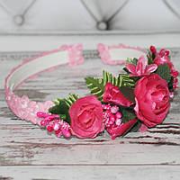 Обруч Ніжні квіти (для дівчаток), фото 1