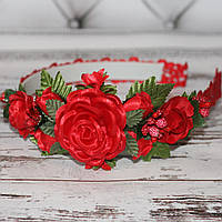 Обруч Ніжні квіти (для дівчаток)