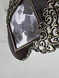 Фоторамка серце з металу, фото 3
