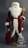 Дед Мороз большой (золотой посох) (72 см) 0553