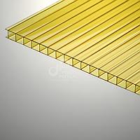 Сотовый желтый поликарбонат 8 мм Polygal