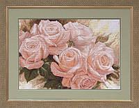 Набор для вышивки нитками на канве Королева цветов 1 КИТ 21008