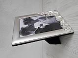 Весільна фоторамка з металу 10х15 см, фото 2