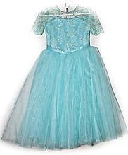 Платье бальное детское Азалия 6-8 лет голубой