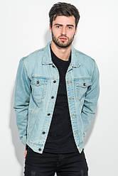 Куртка джинс мужская с принтом на спине 272V001 (Голубой)
