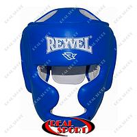 Шлем боксерский тренировочный Reyvel Кожа BK030032-B (р-р M-XL, синий)
