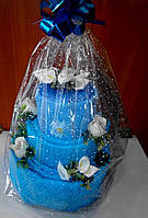 Торт из полотенец  трехъярусный, фото 1
