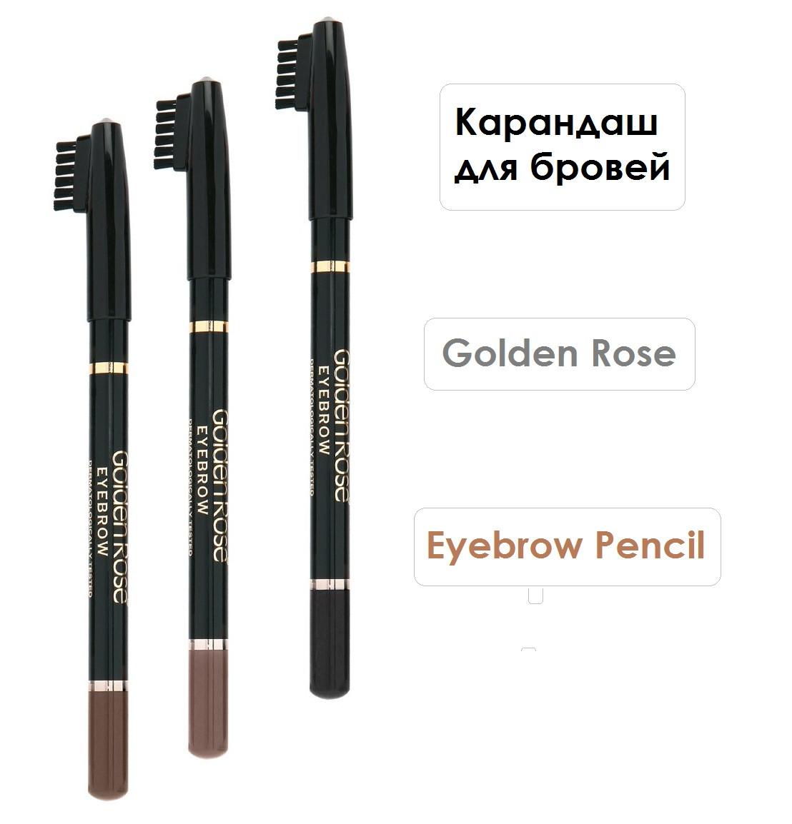 Карандаш для бровей Golden Rose Eyebrow Pencil