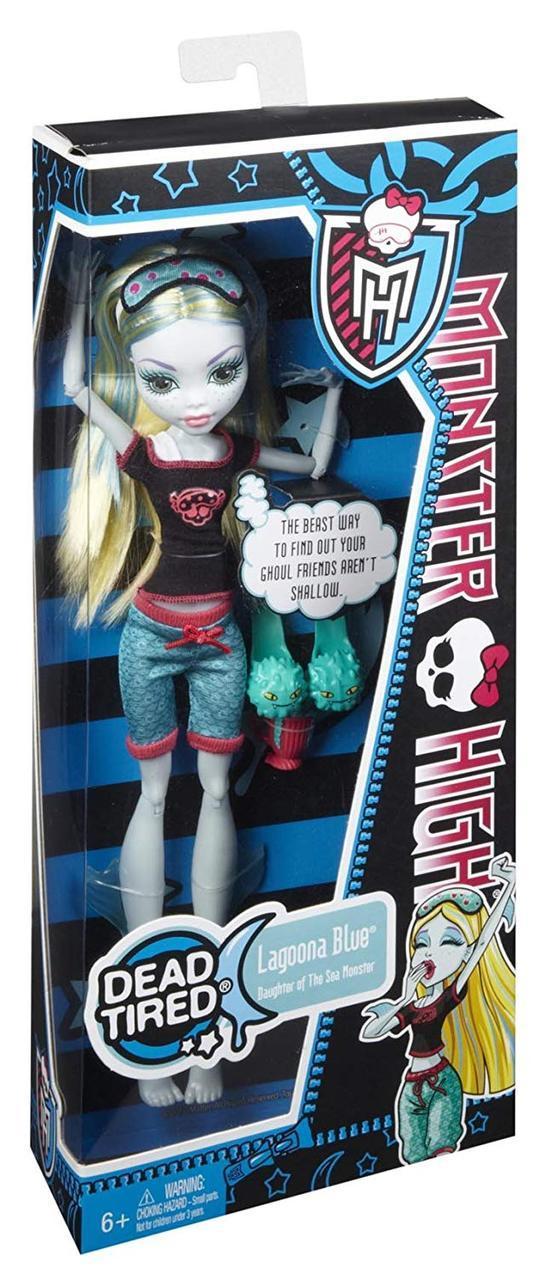Кукла Monster HighЛагуна Блю Смертельно Уставшие Dead Tired Lagoona Blue