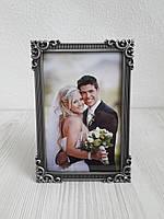 Рамка для весільного фото з металу 10х15 см