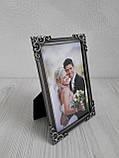 Рамка для весільного фото з металу 10х15 см, фото 2