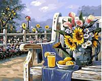 Картина за номерами Ранок в саду 40*50 см. Код-08650